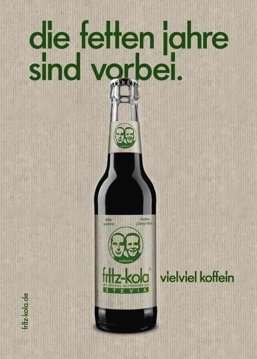 Die fetten Jahre sind vorbei: Fritz launcht Kola mit Stevia | nomy
