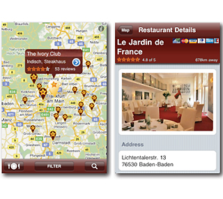 Neu: iPhone-Applikation von Restaurant-Kritik.de