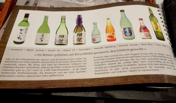 sake auswahl cocoro - getraenke Let´s talk about Sake, Baby!